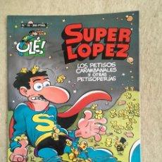 Cómics: SUPER LOPEZ Nº 15 - FORMATO GRANDE CON PORTADA EN RELIEVE. Lote 112996963