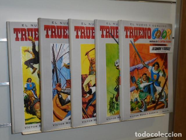 LOTE 5 TOMOS TRUENO COLOR Nº 1-2-3-4 Y 5 VICTOR MORA - AMBROS - EDICIONES B - OFERTA (Tebeos y Comics - Ediciones B - Otros)