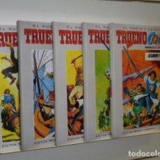 Cómics: LOTE 5 TOMOS TRUENO COLOR Nº 1-2-3-4 Y 5 VICTOR MORA - AMBROS - EDICIONES B - OFERTA. Lote 113105243