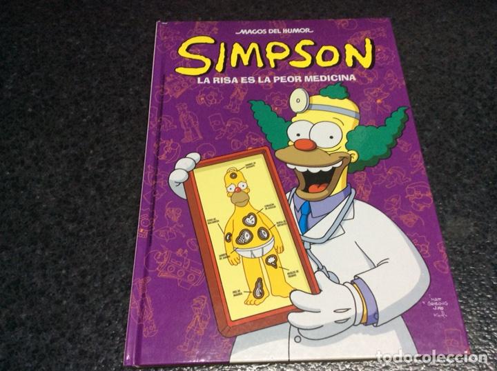 LOS SIMPSON MAGOS DEL HUMOR - SIMPSON, LA RISA ES LA PEOR MEDICINA - TAPA DURA (Tebeos y Comics - Ediciones B - Humor)