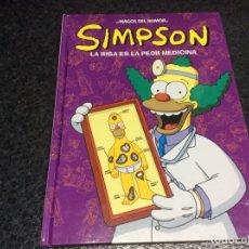 Cómics: LOS SIMPSON MAGOS DEL HUMOR - SIMPSON, LA RISA ES LA PEOR MEDICINA - TAPA DURA. Lote 116096911