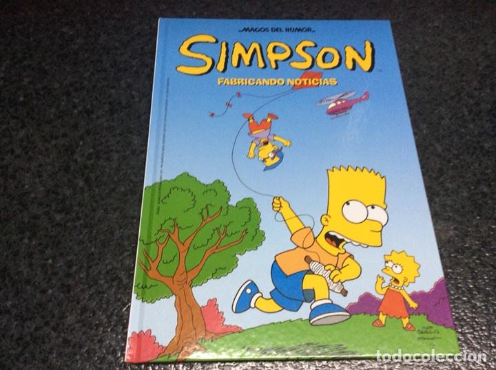 LOS SIMPSON MAGOS DEL HUMOR - SIMPSON, FABRICANDO NOTICIAS - TAPA DURA (Tebeos y Comics - Ediciones B - Humor)