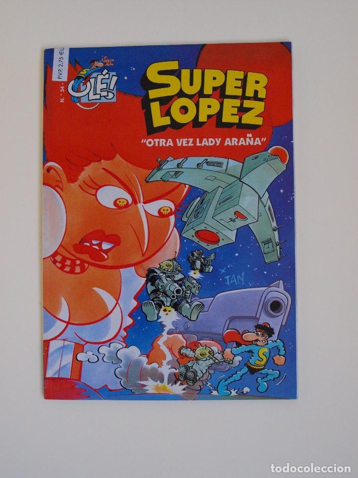 SUPER LOPEZ 34 - OTRA VEZ LADY ARAÑA - EDICIONES B - 1ª EDICION - GRAN FORMATO (Tebeos y Comics - Ediciones B - Humor)