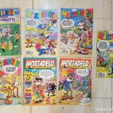 Cómics: LOTE COMIC TEBEO MORTADELO EDICIONES B AÑOS 90 Nº 57,17,140,176,39,142 Y ESPECIAL TUTTI FRUTTI. Lote 121242043