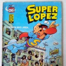 Cómics: 4 COMICS SUPER LOPEZ (JAN)-CACHABOLIK BLUES ROCK Y EL FATASMA DEL MUSEO DEL PRADO...... Lote 121439523