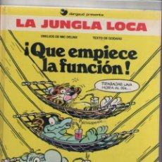 Cómics: LA JUNGLA LOCA-DARGAUD-B.S.A.-AÑO 1987-COLOR-FORMATO CARTONE-Nº 2-QUE ENPIECE LA FUNCION. Lote 121606975