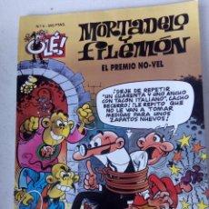 Cómics: EL PREMIO NO-VEL. MORTADELO Y FILEMÓN. OLÉ N°4. IBÁÑEZ. EDICIONES B. AÑO 1993 1º EDICCIÓN.. Lote 121634323
