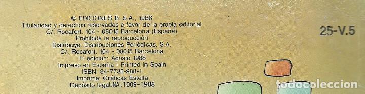 Cómics: LOS CUENTOS DE TÍO VÁZQUEZ Nº 25-V.5 - EDICIONES B 1ª EDICIÓN AGOSTO 1988 COLECCION OLÉ! - Foto 2 - 121840627