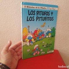 Cómics: LIBRO TOMO COMIC TEBEO LOS PITUFOS Y PITUFITOS EDICIONES B COLECCION Nº 13 PEYO 1990. Lote 122090347