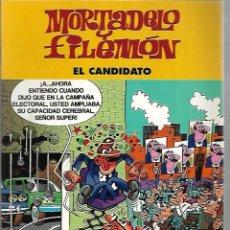 Cómics: MORTADELO Y FILEMON. EL CANDIDATO. EDICIONES B. 2003. Lote 125695723