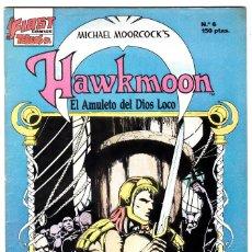 Cómics: HAWKMOON 6 EDICIONES B 1988 EL AMULETO DEL DIOS LOCO FIRST COMICS. Lote 126604795
