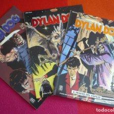 Cómics: DYLAN DOG 1, 2 Y 3 EL RETORNO DEL MONSTRUO ALFA Y OMEGA A TRAVES DEL ESPEJO ¡MUY BUEN ESTADO!. Lote 130962744
