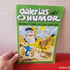 Cómics: TOMO COMIC TEBEO GALERIAS DEL HUMOR MORTADELO Y FILEMON ZIPI ZAPE SUPER LOPEZ Nº 28 EDICIONES B 1988. Lote 130994496