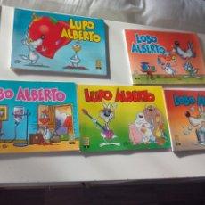 Cómics: LOBO LUPO ALBERTO (GUIDO SILVESTRI) COMPLETA Nº 1, 2, 3, 4, 5 EDICIONES B 1988-9. Lote 131016916