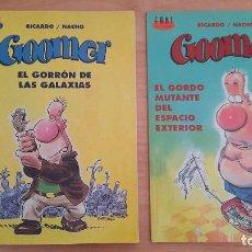 Cómics: 2 COMICS - TEBEOS - GOOMER - NÚMEROS 1 Y 2 - EL GORRON DE LAS GALAXIAS Y EL GORDO MUTANTE .. MBE. Lote 131094440