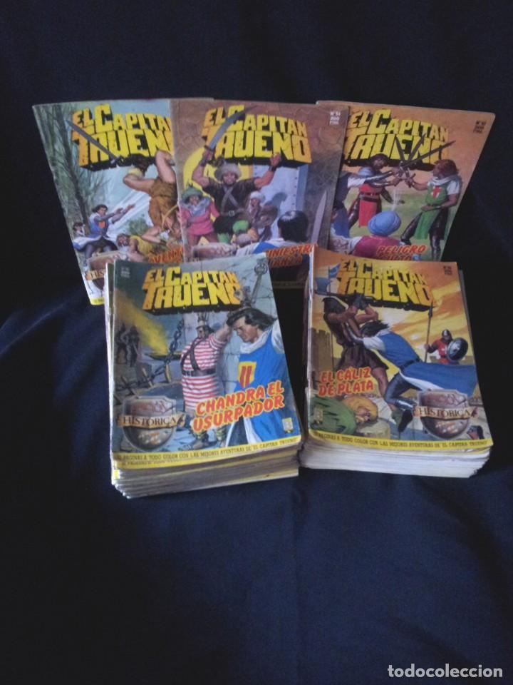 LOTE DE 89 NÚMEROS DEL CAPITAN TRUENO, EDICION HISTORICA - EDICIONES B (Tebeos y Comics - Ediciones B - Clásicos Españoles)