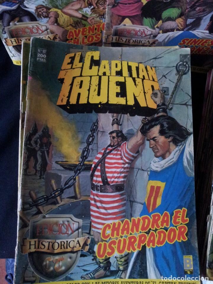 Cómics: LOTE DE 89 NÚMEROS DEL CAPITAN TRUENO, EDICION HISTORICA - EDICIONES B - Foto 2 - 133338234