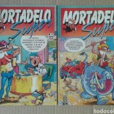 Cómics: LOTE SÚPER MORTADELO, NÚMEROS 1 Y 2 (EDICIONES B, 1987). CON REBUZNOS EN EL ESPACIO, ETC.. Lote 133460639