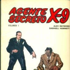 Cómics: AGENTE SECRETO X-9 COMPLETA SIETE EJEMPLARES EDICIONES BO DE ALEX RAYMOND. Lote 133528050