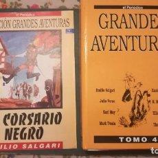 Cómics: COLECCION GRANDES AVENTURAS TOMO 4 EL CORSARIO NEGRO Y 24 NUMEROS MÁS (COMPLETO). Lote 133570442