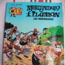 Cómics: MORTADELO Y FILEMON N 56: LOS MERCENARIOS; 1ª EDICION PORTADA EN RELIEVE; . Lote 133989958