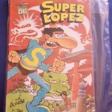 Cómics: SUPER LOPEZ,COLECCIÓN OLÉ LA BANDA DEL DRAGÓN DESPEINADO Y LA BOMBA ¡NUEVO!. Lote 135139810