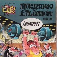 Cómics: LOTE DE DOS CÓMICS DE MORTADELO Y FILEMON LOS MERCENARIOS Y SEÚL 88. AÑOS 93-94 TAPA BLANDA. Lote 135801522