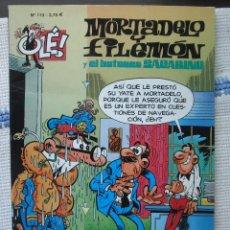 Comics : MORTADELO Y FILEMÓN Y EL BOTONES SACARINO Nº 113 - DOS CABESTROS Y UN POLLINO. Lote 135905666