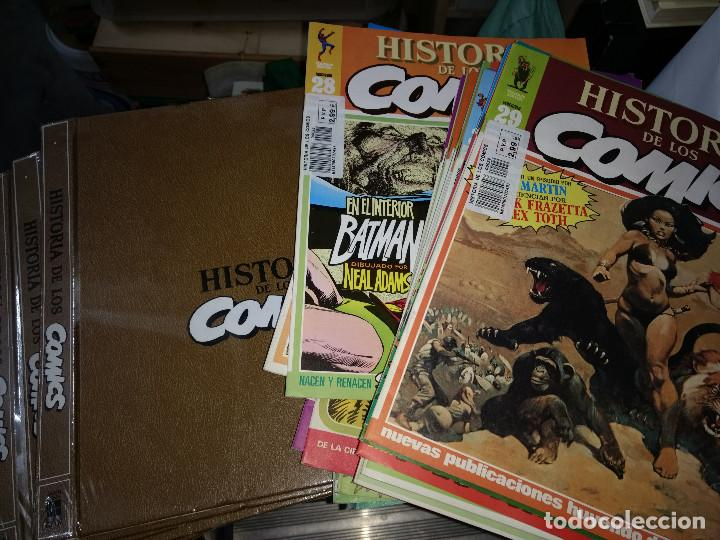 HISTORIA DE LOS COMICS LOTE 46 FASCICULOS Y 4 TAPAS TOMO TOUTAIN EDITOR (Tebeos y Comics - Ediciones B - Clásicos Españoles)