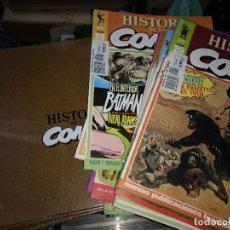Cómics: HISTORIA DE LOS COMICS LOTE 46 FASCICULOS Y 4 TAPAS TOMO TOUTAIN EDITOR. Lote 135950858