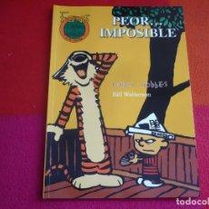 Cómics: CALVIN Y HOBBES Nº 18 PEOR IMPOSIBLE ( BILL WATTERSON ) ¡MUY BUEN ESTADO! FANS EDICIONES B. Lote 151412270
