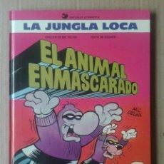 Cómics: LA JUNGLA LOCA: EL ANIMAL ENMASCARADO, POR MIC DELINX Y GODARD (DARGAUD / EDICIONES B, 1989).. Lote 138842884