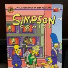 Cómics: SIMPSON COMICS - EDICIONES B - NUMERO 33. Lote 139768638
