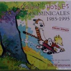 Cómics: CALVIN Y HOBBES PÁGINAS DOMINICALES 1985-1995 - VER FOTOS. Lote 142868362