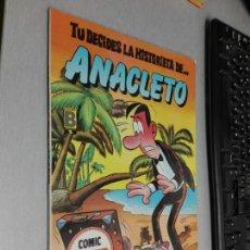 Cómics: TU DECIDES LA HISTORIETA DE... ANACLETO / CÓMIC SUPER AVENTURAS Nº1 - EDICIONES B 1987. Lote 143306230