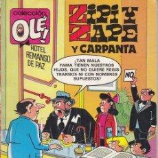 Cómics: ZIPI Y ZAPE Y CARPANTA - EDICIONES B - OLE Nº 231 Z8. Lote 143598510
