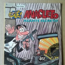 Cómics: ANACLETO, AGENTE SECRETO. COLECCIÓN OLÉ! N°2 (EDICIONES B, 1993). BY VÁZQUEZ.. Lote 143875652