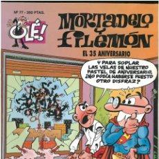 Comics : MORTADELO Y FILEMON. Nº 77. COL. OLE. 1ª EDICION. FORMATO GRANDE CON RELIEVE. EDICIONES B. C-12. Lote 145502558