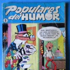 Cómics: POPULARES DEL HUMOR TOMOS Nº1-MORTADELO Y FILEMÓN, ZIPI Y ZAPE, PULGARCITO 1987 - RETAPADO 5 TEBEOS. Lote 147458390