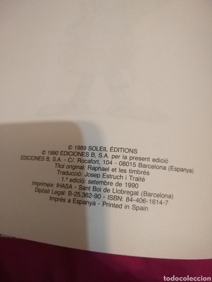 Cómics: RAFEL SEMPRE TRUCA DUES VEGADES - SANDRON Y CAUVIN - Ediciones B 1990 - comic tebeo - Foto 2 - 34384667