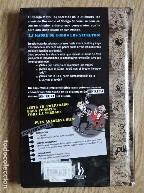 Cómics: GUIA DE LOS SECRETOS DE LA TIA T.I.A. MORTADELO Y FILEMÓN EDICIONES B Primera edición 2011 - Foto 2 - 147710334
