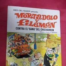 Cómics: ASES DEL HUMOR. Nº 2. MORTADELO Y FILEMON CONTRA EL GANG DEL CHICHARRON. BRUGUERA. 1979. 2ª EDI. Lote 148379166