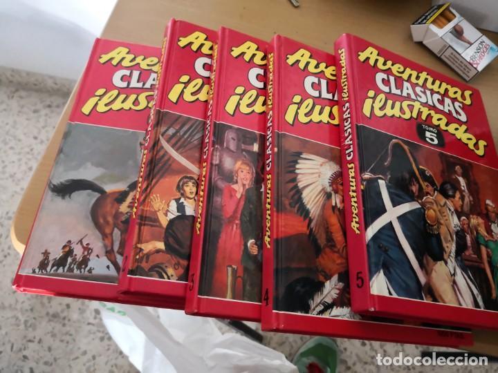 AVENTURAS CLÁSICAS ILUSTRADAS - COLECCIÓN COMPLETA DE 5 TOMOS DE EDICIONES B. (1988) (Tebeos y Comics - Ediciones B - Otros)