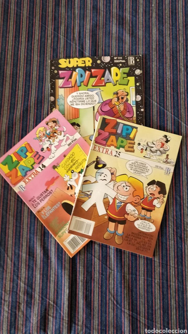 LOTE 3 COMICS ZIPI Y ZAPE EXTRA NÚMEROS 14 Y 25 Y SUPER ZIPI Y ZAPE NÚMERO 111 (Tebeos y Comics - Ediciones B - Humor)