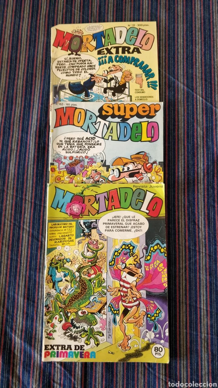 LOTE 3 COMICS MORTADELO, EXTRA PRIMAVERA 1971, EXTRA 12, SUPER 62 (Tebeos y Comics - Ediciones B - Humor)