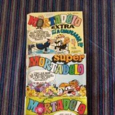 Cómics: LOTE 3 COMICS MORTADELO, EXTRA PRIMAVERA 1971, EXTRA 12, SUPER 62. Lote 149002617