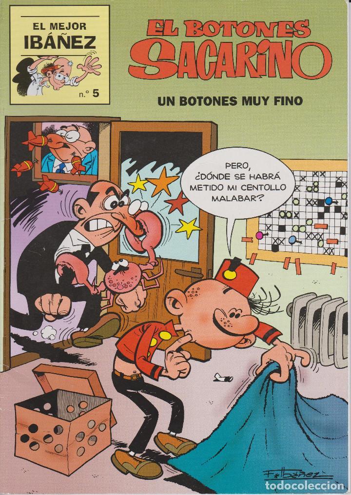 EL BOTONES SACARINO. UN BOTONES MUY FINO.EL MEJOR IBAÑEZ Nº 5 (Tebeos y Comics - Ediciones B - Humor)