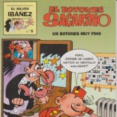 Cómics: EL BOTONES SACARINO. UN BOTONES MUY FINO.EL MEJOR IBAÑEZ Nº 5. Lote 149228010