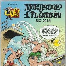 Cómics: COLECCIÓN OLÉ 204: MORTADELO Y FILEMÓN, RIO 2016, 2017, EDICIONES B, MUY BUEN ESTADO. Lote 151185210