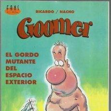 Cómics: GOOMER 1: EL GORDO MUTANTE DEL ESPACIO EXTERIOR, 2000, EDICIONES B, MUY BUEN ESTADO. COLECCIÓN A.T.. Lote 151185718